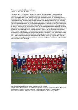Primer entreno del Club Deportivo Caspe (Lunes, 03 de agosto de