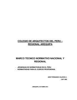 COLEGIO DE ARQUITECTOS DEL PERU – REGIONAL AREQUIPA