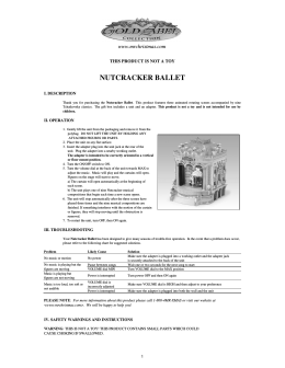 NUTCRACKER BALLET Manual SP&ENG&GM&FR