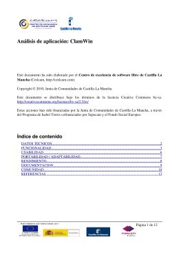 Análisis de aplicación: ClamWin