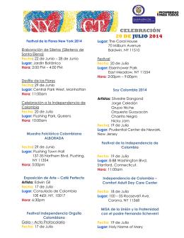 celebración 20 de julio 2014 - Consulado de Colombia en Nueva York