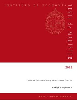 TESIS de MA GÍSTER - Instituto Economía Pontificia Universidad