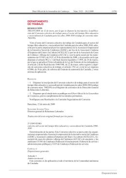 DEPARTAMENTO DE TRABAJO - Colegio de Graduados Sociales