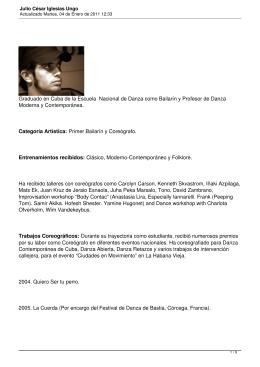 Julio César Iglesias Ungo - Danza Contemporánea de Cuba