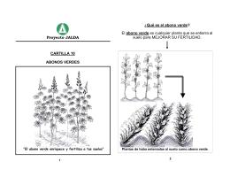 Proyecto JALDA CARTILLA 10 ABONOS VERDES ¿Qué es el