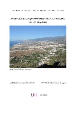 Evolucion del pequeno comercio en el municipio de Los Realejos