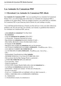 Los Animales Se Comunican PDF eBook