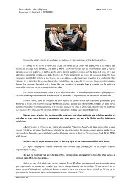 Promoción La Uniøn – Big Bang Encuentro en Canarias7 el 25/02