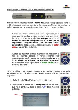 Cómo sintonizar canales en decodificador TechniSat
