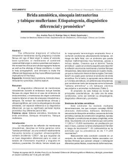 Brida amniótica, sinequia intrauterina y tabique mulleriano