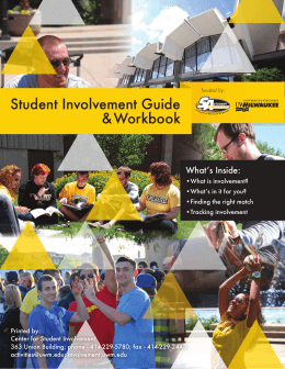 Student Involvement Guide & Workbook