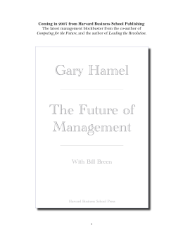 Gary Hamel The Future of Management