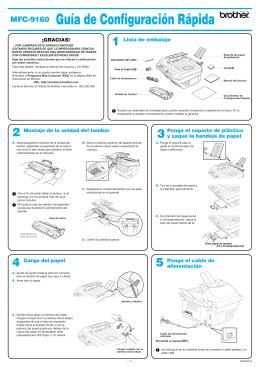 MFC-9160 Guía de Configuración Rápida
