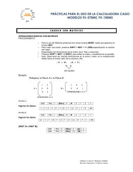 prácticas para el uso de la calculadora casio modelos fx