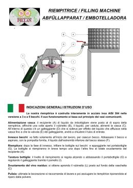 riempitrice / filling machine abfüllapparat