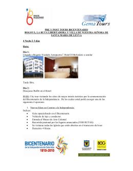 Bicentenario Bogotá - Villa de Leyva Gematours
