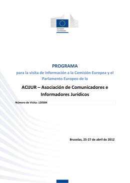 Programa oficial del viaje