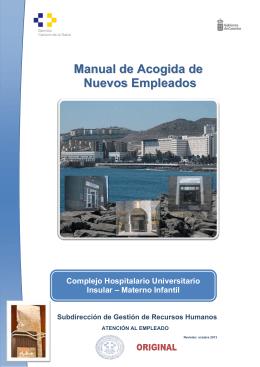 Manual de Acogida del Complejo Hospitalario Universitario Insular