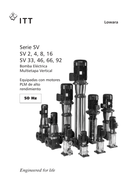 Serie SV SV 2, 4, 8, 16 SV 33, 46, 66, 92