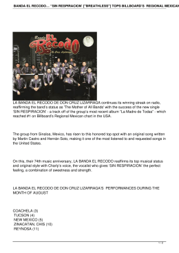 "banda el recodo… ""sin respiracion` [""breathless""] tops billboard`s"