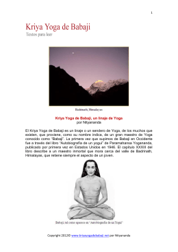 versión en pdf - Kriya Yoga de Babaji