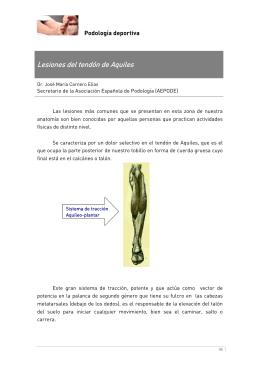 Lesiones del tendón de Aquiles