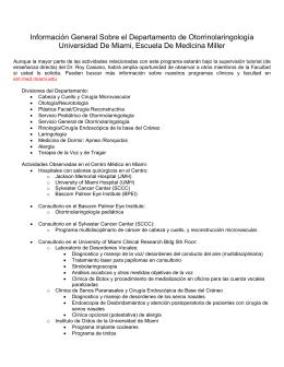 Información General Sobre el Departamento de