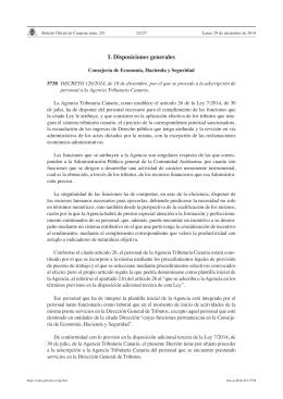 I. Disposiciones generales - Ministerio de Hacienda y
