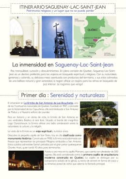 Itinerario Saguenay-Lac-Saint-Jean