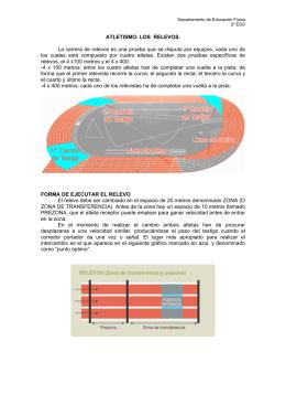 ATLETISMO: LOS RELEVOS. La carrera de relevos es una prueba