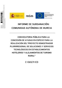 Informe resultado subsanación Murcia