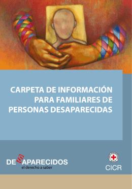 carpeta de información para familiares de personas desaparecidas