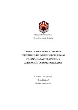 anticuerpos monoclonales específicos de inmunoglobulina g canina