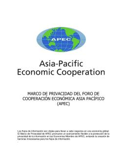 Marco de Privacidad del Foro de Cooperación Internacional APEC