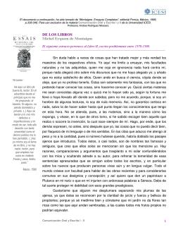 DE LOS LIBROS Michel Eyquem de Montaigne