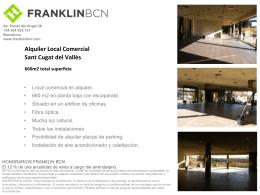 Alquiler Local Comercial Sant Cugat del Vallès