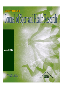 Vol. 3 (1) - Journal of Sport and Health Research
