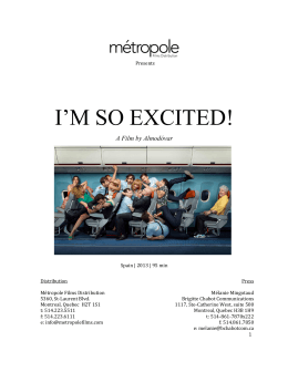 I`M SO EXCITED! - Métropole Films