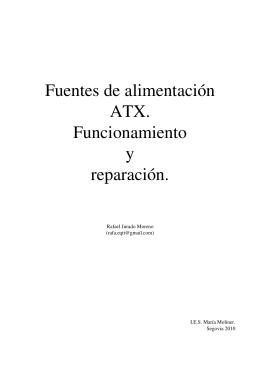 Fuentes de alimentación ATX. Funcionamiento y reparación.