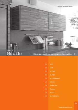 Sistemas corredizos para puertas de muebles