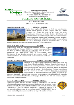 Presupuesto Viaje a Madrid - Toledo-1