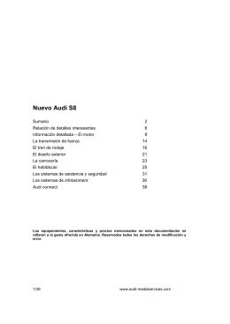 Dossier Audi S8 2012 - Periodismo del Motor