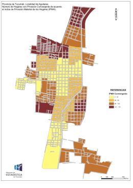Localidad de Aguilares. Número de hogares con Privación
