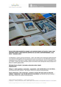 Selección bibliográfica - San Martín Centro de Cultura