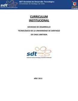 curriculum institucional - SDT Sociedad de Desarrollo Tecnológico