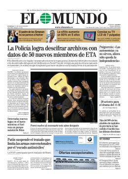 Descargue GRATIS la portada del diario EL MUNDO en PDF
