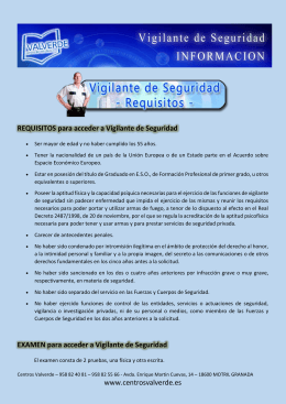 Requisitos para Vigilante de Seguridad