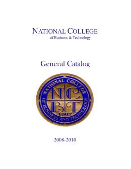 Catálogo NCBT 2008-10 June 2009 Revision
