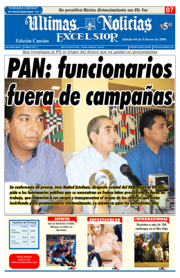 portada Cancun.qxp - Ultimas Noticias Quintana Roo