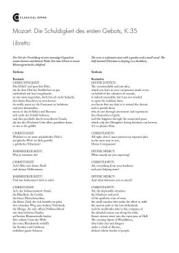 Libretto Mozart: Die Schuldigkeit des ersten